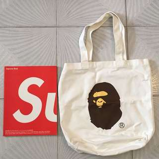 A Bathing ape & Baby milo canvas tote bag (2個)