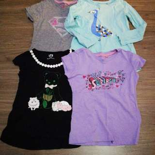 Bundle t-shirts for girl 3/4yrs old