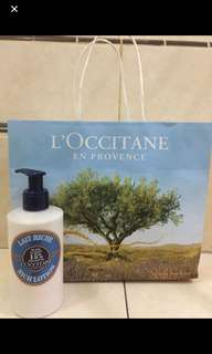 FOR SALE !! L'occitane shea butter lotion