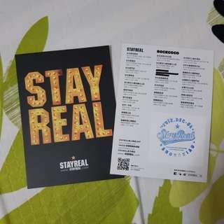 Stayreal card