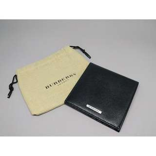 Burberry Square Bifold Leather Wallet