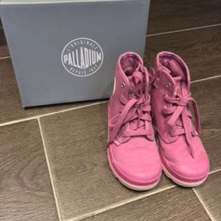 Further reduced - Palladium Ibis Rose (pink) children's booties
