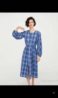 🚚 European and American Plaid Long Shirt Dress