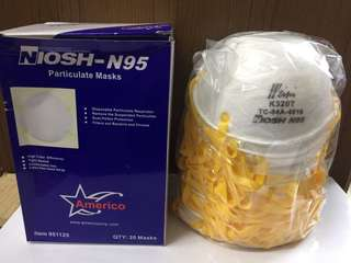 NIOSH-N95 MASKS 20pc