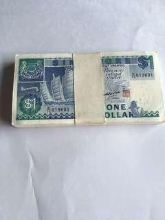 Spore Ship Series $1 banknote x 100 run