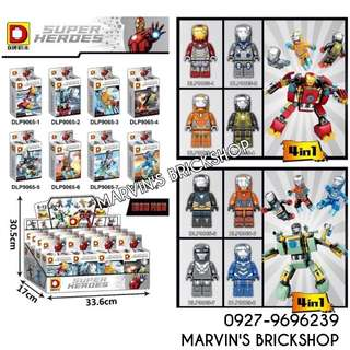 For Sale Iron Man 8in1 Minifigures with FREE 2 Mech Inside