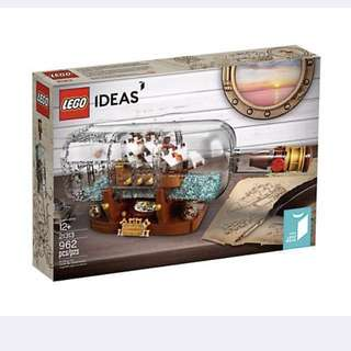 ( left last ) Lego 21313 ship in bottle