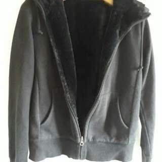 Uniqlo Full Zip Fur Hooded Jacket