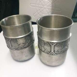 錫製杯一对