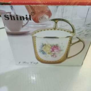 Mug with lid ceramic