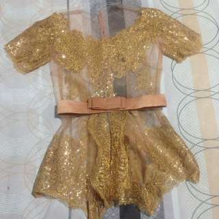 Gold Kebaya with Belt