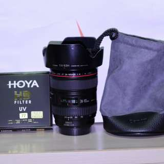 CANON 24-105mm with HOYA UV FILTER
