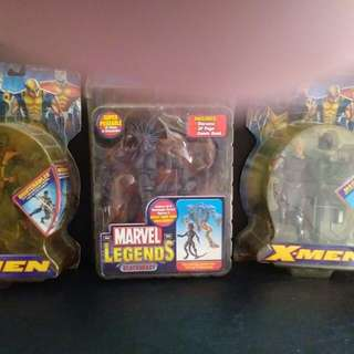 Vintage X men action figures