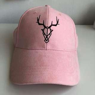 Pink Reindeer Cap