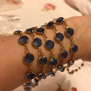 藍水晶長項鍊《全新》