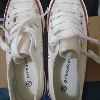 Primadonna lace up sneakers white (worn once)