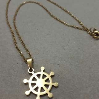 Anchor Wheel Necklace