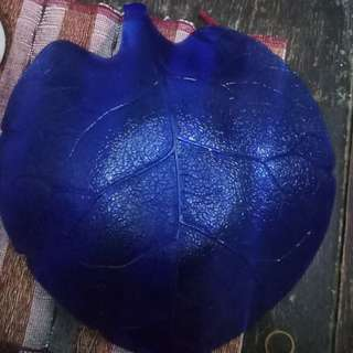 Preloved piring buah kaca biru