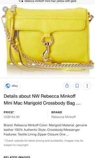rebecca minkoff in marigold yellow mini mac