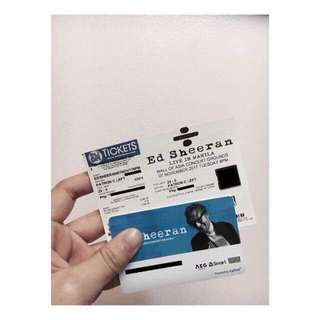 ED SHEERAN TICKET
