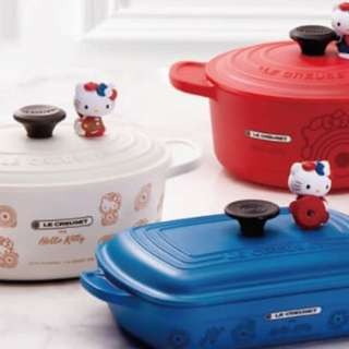 Le creuset for Hello kitty 藍色造型便當盒