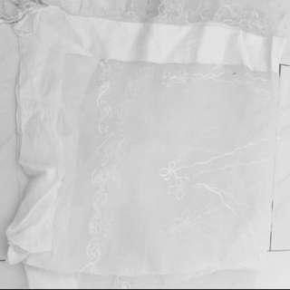 White Transparent Scarf