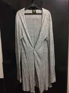 Mint Unisex Gray Oversized Cardigan Medium