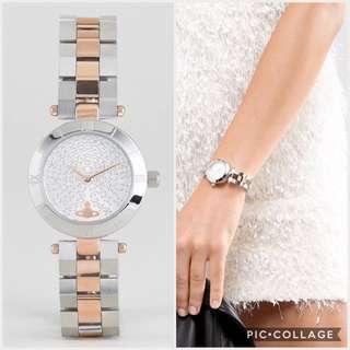 Vivienne Westwood高貴鋼錶xSwarovski水晶錶面