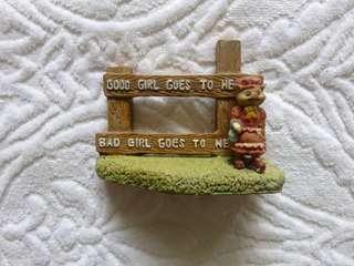 Figurine Pig Good Girl Bad Girl