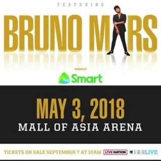 Bruno Mars VIP 1 May 3 (4 Available)