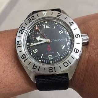 Vostok Komandriskie GMT Watch 200M WR (without strap)
