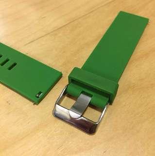 快速開關生耳 矽膠錶帶 22mm Silicon Strap w/ Quick-release Pins