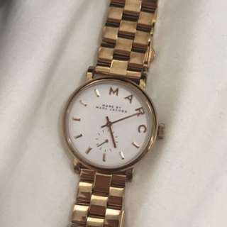 Authentic Marc by Marc Jacobs watch - white and gold