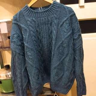 超級溫暖全新的藍色針織毛衣#換季五折