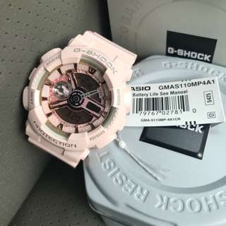 Brand NEW Gshock Mini Nude Pink GMAS110MP Hottest Selling Colour GMAS110 Casio G-Shock FREE DELIVERY