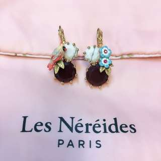 💕Les Nereides Earrings - flowers, birds