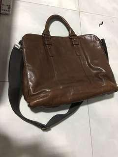 Fossil leather men postman bag