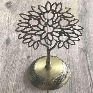 100% New Crabtree & Evelyn London Bronze Rings Keys Accessories Tree Hanger Holder