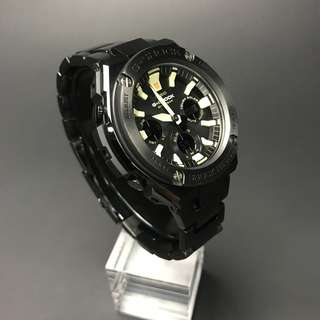 100% Authentic Brand New Casio Gsteel Steel Strap GSTS130BD Full Black Gshock FREE DELIVERY G-Shock