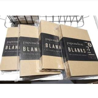 Papemelroti kraft blank notebook set of 3