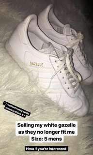 Adidas White Gazelle's