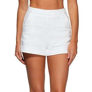 kookai hampton shorts white size 34