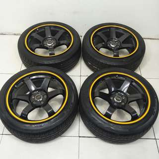 17 '' Sport Rim With Tyre 5x100 (SR1005)