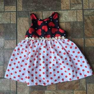 Heart Polka Dots Dress