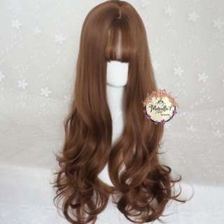 full wig curly light brown