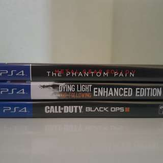 PS4 - 3 Preowned Games
