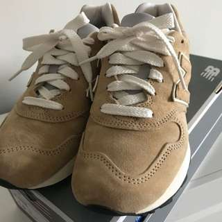 NEW BALANCE 1400 女卡其麂皮慢跑鞋 23cm美國製