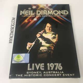 🚚 [DVD] Neil Diamond - The Thank You Australia Concert Live 1976