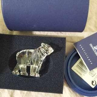 Swarovski 水晶擺設熊哥哥熊妹妹 共兩盒