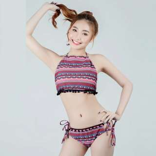 Nhaijel Symetric Design Two Piece Swimwear - AH001